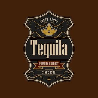 Vintage frame for tequila