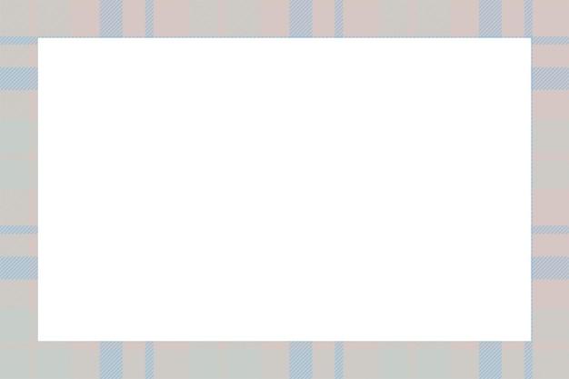 빈티지 프레임 벡터입니다. 스코틀랜드 테두리 패턴 복고 스타일입니다. 아름다움 빈 배경, 사진, 초상화, 앨범 템플릿. 타탄 체크 장식.