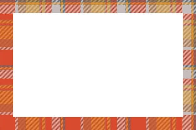 ヴィンテージフレームベクトル。スコットランドのボーダーパターンのレトロなスタイル。タータンチェックの飾り。