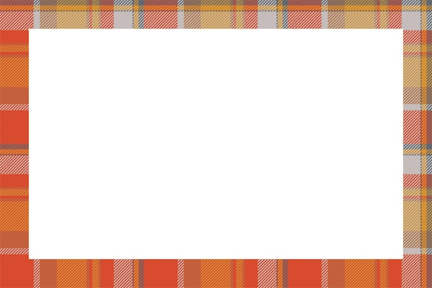 Vintage frame vector. scottish border pattern retro style. tartan plaid ornament.
