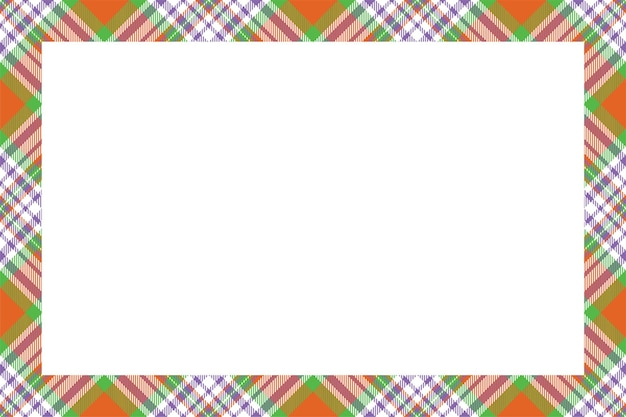 빈티지 프레임 벡터입니다. 스코틀랜드 국경 패턴 복고 스타일