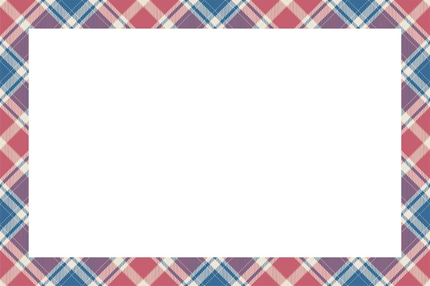 빈티지 프레임 벡터입니다. 스코틀랜드 테두리 패턴 복고 스타일입니다.