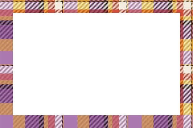 ヴィンテージフレームベクトル。スコティッシュボーダーズ。タータンチェックの飾り。