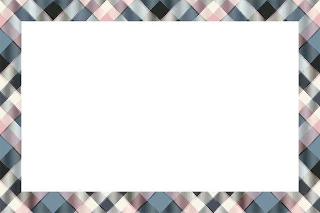 Винтажная рамка вектор. шотландский ретро-стиль. пустой фон