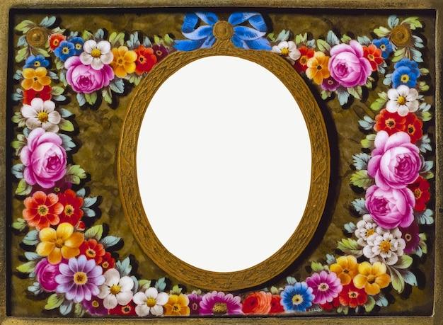 Vintage frame with flower