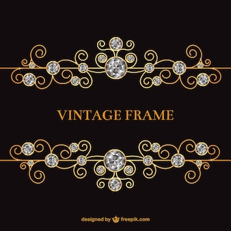 Vintage frame with jewels