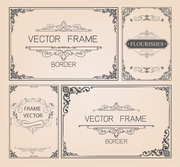 Vintage frames and borders set