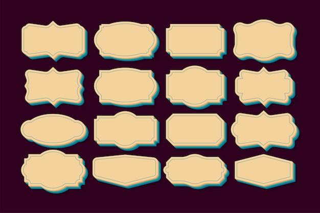 Винтажные рамки набор клипарт набор ретро-коллекция для декоративного оформления