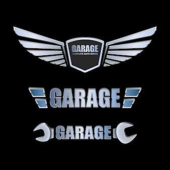 Vintage garage retro label design