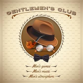 Vintage gentlemen poster