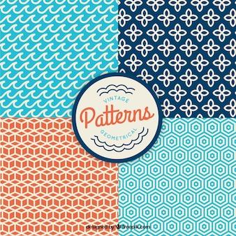 Vintage geometric patterns Free Vector
