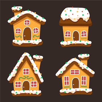 Vintage gingerbread house collection