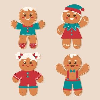 ヴィンテージジンジャーブレッドマンクッキーコレクション