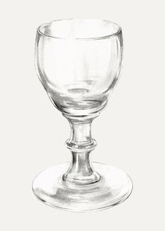 Vintage glass vector illustration, remixed from the artwork by lillian causey