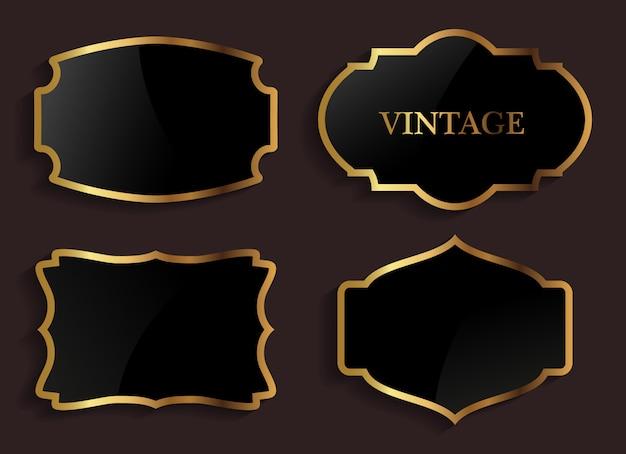 ヴィンテージゴールドとブラックのラベル