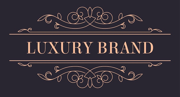 Vintage gold logotype for luxury brand