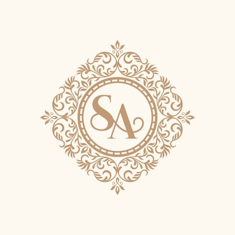 Vintage gold luxury logo