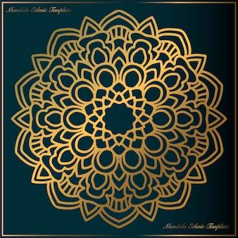 Vintage gold mandala art