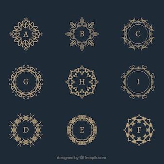 Raccolta monogramma d'oro vintage