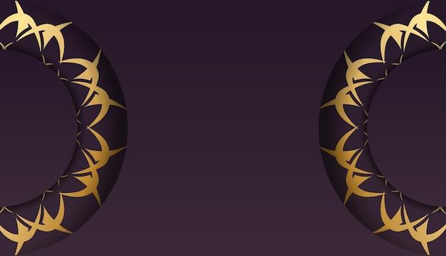 귀하의 브랜드에 대한 빈티지 골드 패턴 부르고뉴 전단지.