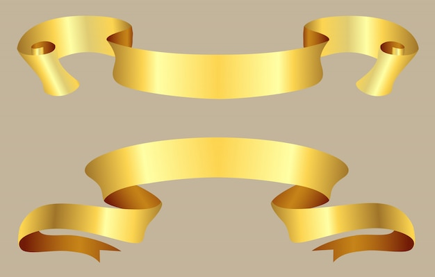 Vintage gold ribbons
