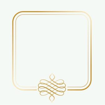 Винтажная золотая рамка с пространством для текста