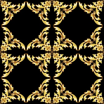 Vintage golden seamless pattern