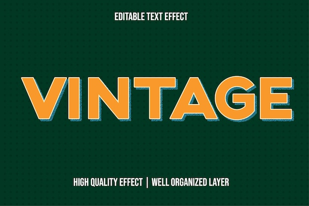 Vintage golden text effect style