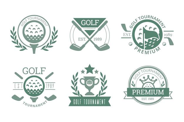 빈티지 골프 로고 컬렉션