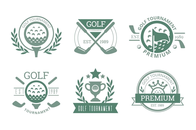 Collezione logo golf vintage