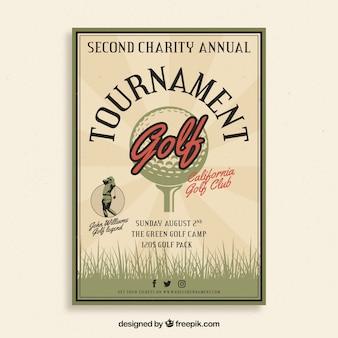 Vintage golf tournament poster