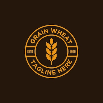 Винтаж зерна пшеницы логотип