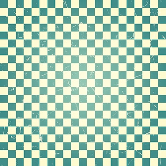 Vintage green checkerboard pattern