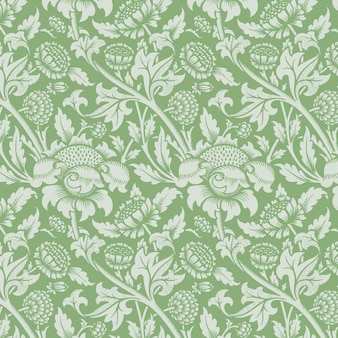 Fondo senza cuciture del modello dell'ornamento floreale verde dell'annata?
