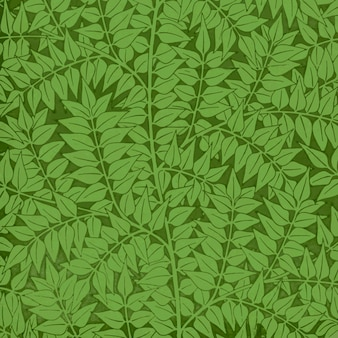 ヴィンテージ緑月桂樹の枝パターンベクトル