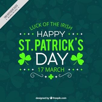 Vintage green saint patrick's day background