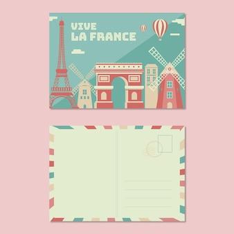 Cartolina di famiglia saluto vintage