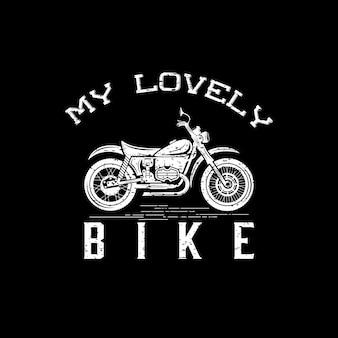Vintage grunge motorcycle on dark
