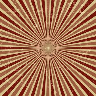 Vintage grunge starburst background