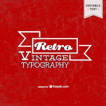 Grunge design tipografia