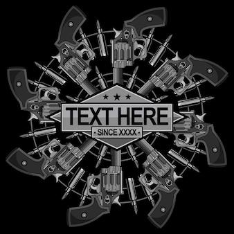 ヴィンテージ銃のロゴ