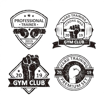 Vintage gym club badges