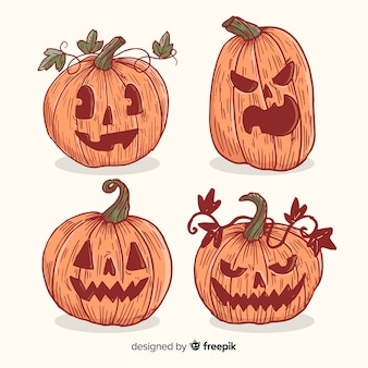 Vintage halloween pumpkin collection