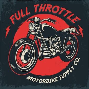 ヴィンテージ手描きオートバイデザイン