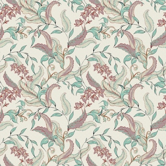 Vintage hand drawn baroque seamless pattern