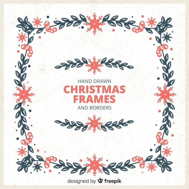 Free Vintage Hand Drawn Christmas Frame Svg Dxf Eps Png New Free Svg Files Cut Silhoeutte