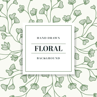 Vintage hand drawn floral background