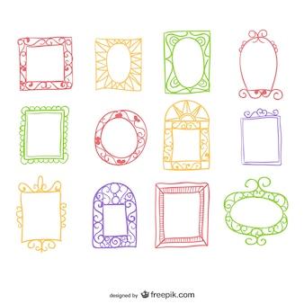 Vintage hand-drawn frames