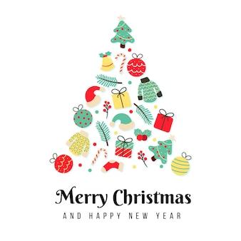 ヴィンテージ手描きクリスマスバナー