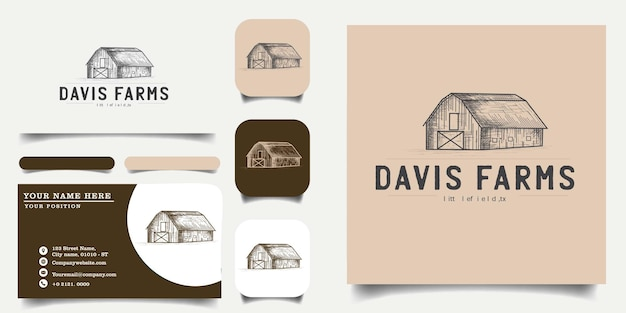 Vintage​_​handrawn​_​farm​_​logo​_​template​_​and​_​business​_​card​_